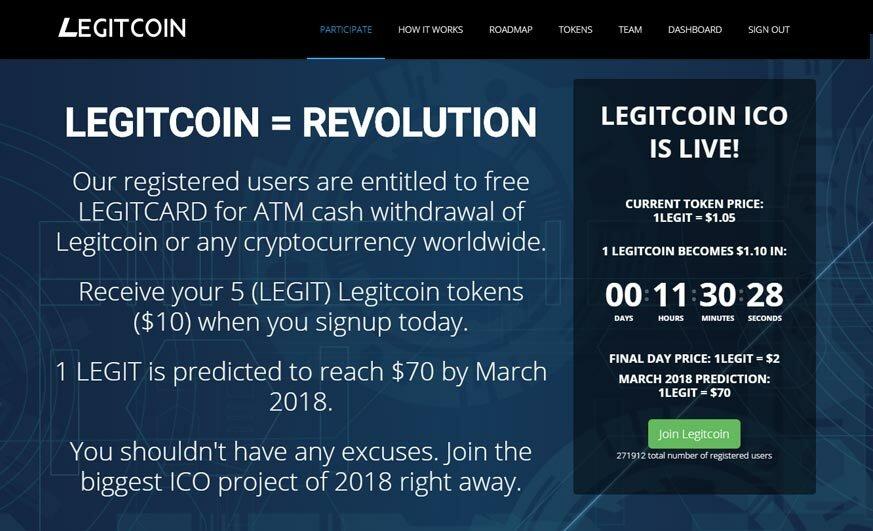 LegitCoin — аирдроп + карты для обналички в банкоматах