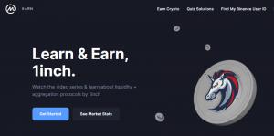 CoinMarketCap Earn — бесплатная раздача монет 1inch